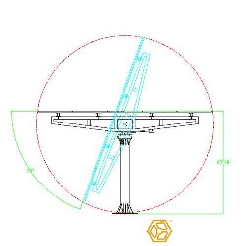 三维太阳能支架系列双轴跟踪系统